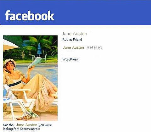 Jane Austen is on Facebook!