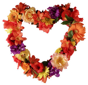 Autumn Floral Heart