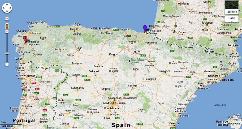 Map Of Northern Spain.Northern Spain Adventure Casa Azahar