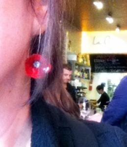 poppy ear rings
