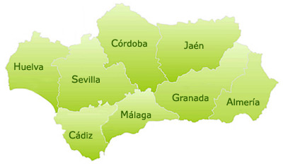 map of andalucia