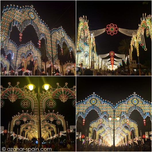 feria jerez at night