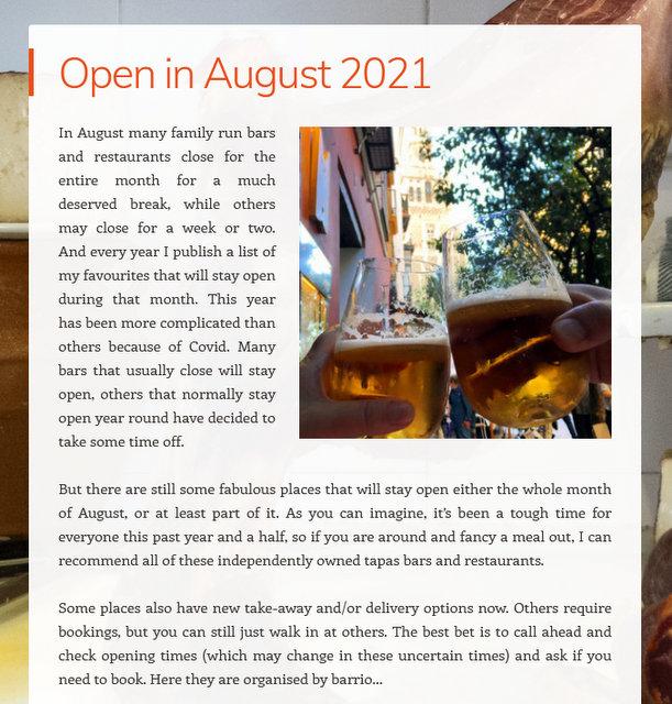 open in august